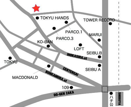 ライブハウス渋谷スターラウンジの地図